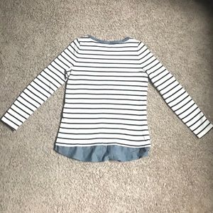 LOFT Tops - NWOT LOFT Striped Twofer with Chambray Shirttail